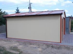 garaż blaszany bez zezwolenia na budowę
