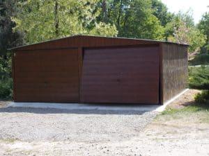 podwójny garaż blaszany