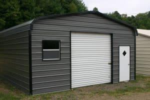 garaż blaszany z oddzielnym wejściem